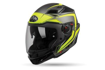 Casque modulable route Airoh 2019 Executive Line - Jaune Fluo Mat