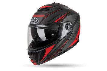 Casque modulable route Airoh 2019 Phantom S Triplo - Rouge Mat