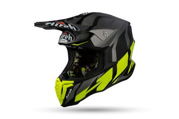 Casque cross Airoh 2019 Twist Great - Gris Mat Jaune Fluo
