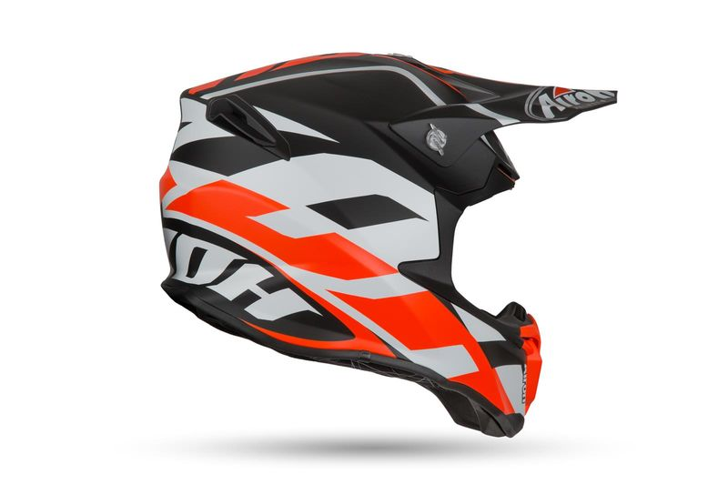 Casque Cross Airoh 2019 Twist Great Orange Mat 3as Racing