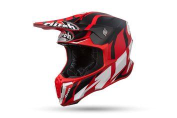 Casque cross Airoh 2019 Twist Great - Rouge Mat
