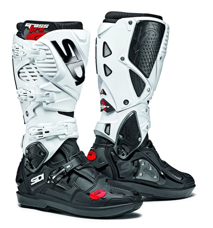 bottes cross sidi 2019 crossfire 3 srs noir blanc 3as racing. Black Bedroom Furniture Sets. Home Design Ideas