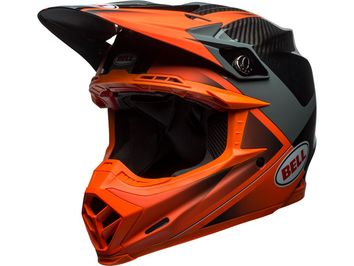 Casque cross Bell Moto-9 Flex Hound - Orange Gris