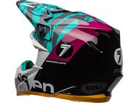 Casque cross Bell Moto-9 Flex Seven Zone - Noir Aqua
