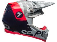 Casque cross Bell Moto-9 Flex Seven Zone - Bleu Corail