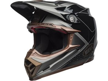 Casque cross Bell Moto-9 Flex Hound - Noir Bronze Mat / Brillant