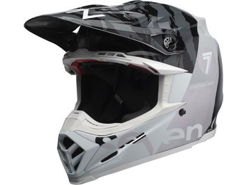 Casque cross Bell Moto-9 Flex Seven Zone - Noir Chrome