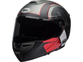 Casque modulable route Bell SRT Hart Luck - Gris Blanc Rouge