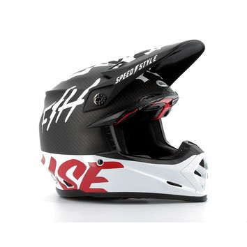 Casque cross Bell Moto-9 Flex FastHouse WRWF - Noir Blanc Rouge