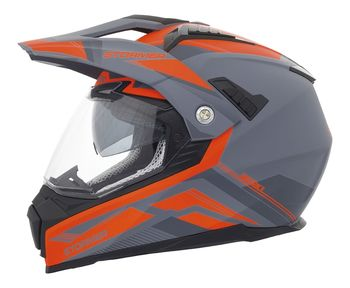 Casque cross Stormer Traveller District - Gris Orange