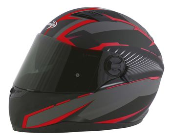 Casque intégral route Stormer Pusher Xenon - Rouge Mat