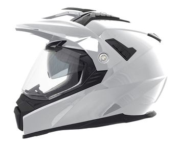 Casque cross Stormer Traveller Uni - Blanc