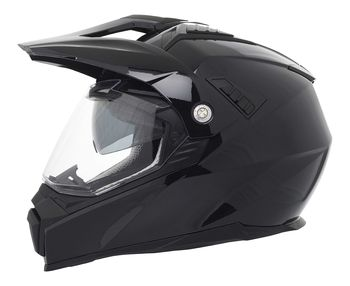 Casque cross Stormer Traveller Uni - Noir