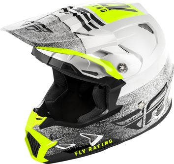 Casque cross enfant Fly Racing Toxin MIPS Embargo - Blanc Noir