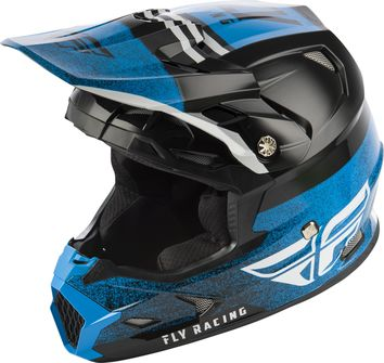 Casque cross enfant Fly Racing Toxin MIPS Embargo - Bleu Noir
