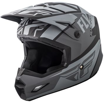 Casque cross enfant Fly Racing 2019 Elite Guild - Gris Noir