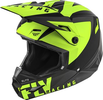 Casque cross enfant Fly Racing 2019 Elite Vigilant - Noir Jaune Fluo