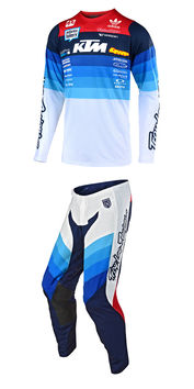Tenue cross Troy Lee Designs 2019 19.1 SE Pro Mirage Team US - Blanc