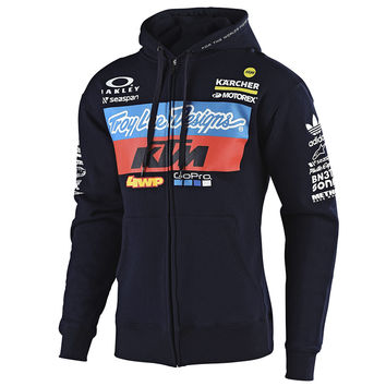 Sweat Shirt zippé Troy Lee Designs KTM Team 2019 - Bleu