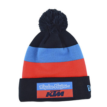 Bonnet Troy Lee Designs KTM Team Block Pompom 2019 - Bleu