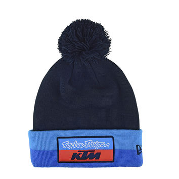 Bonnet Troy Lee Designs KTM Team Stripe Pompom 2019 - Bleu