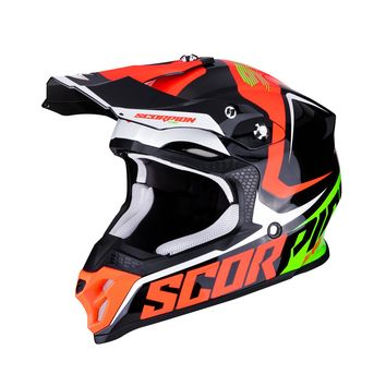 Casque cross Scorpion 2019 VX-16 Air Ernee - Noir Mat Rouge Fluo Vert 53/54 - XS