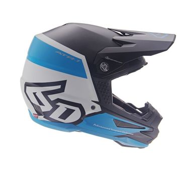 Casque cross 6D ATR-1 Flight - Noir Bleu