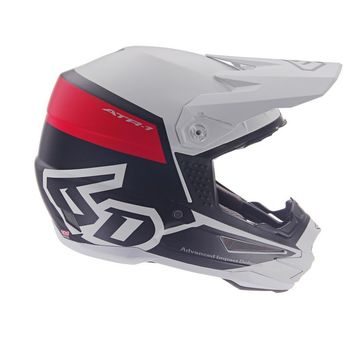 Casque cross 6D ATR-1 Flight - Blanc Rouge
