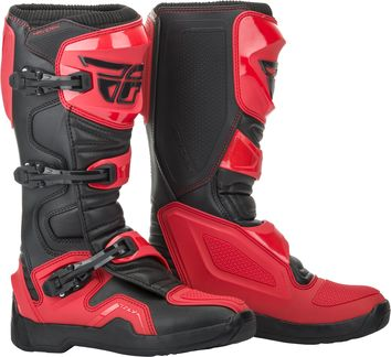 Bottes cross Fly Racing Maverik - Noir Rouge
