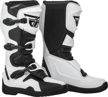Bottes cross Fly Racing Maverik - Blanc
