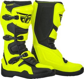 Bottes cross Fly Racing Maverik - Jaune Fluo
