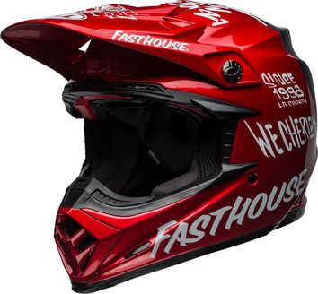 Casque cross Bell Moto-9 Flex FastHouse - Rouge Bleu