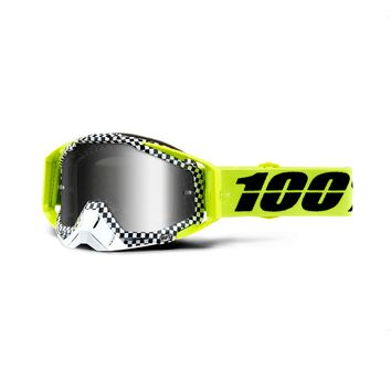 Masque cross 100% 2019 Racecraft Andre - Ecran Iridium Argent