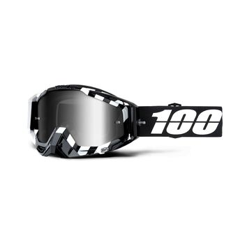 Masque cross 100% 2019 Racecraft Alta - Ecran Iridium Argent