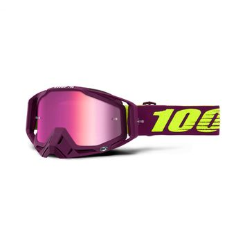 Masque cross 100% 2019 Racecraft Klepto - Ecran Iridium Rose