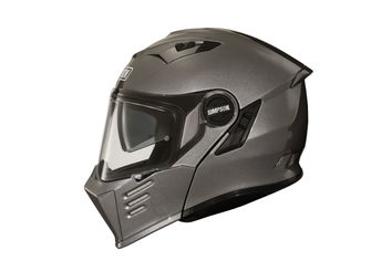 Casque modulable route Simpson Darksome Solid - Gun Metal