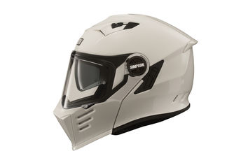Casque modulable route Simpson Darksome Solid - Blanc