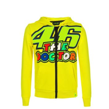 Sweat Shirt zippé Enfant VR46 The Doctor 46 - Jaune