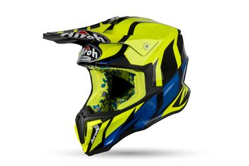 Casque cross Airoh 2019 Twist Great - Jaune Fluo