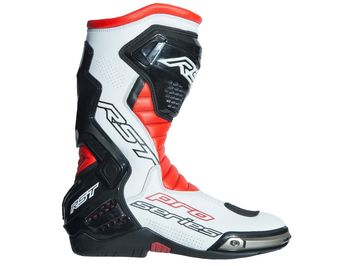 Bottes moto racing RST Race Pro Series - Rouge Fluo Blanc