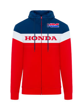 Sweat Shirt zippé Honda HRC - Rouge Bleu