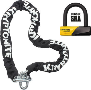 Antivol U KRYPTONITE 99mm + Chaine 150cm SRA