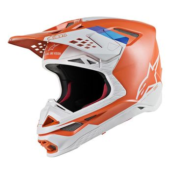 Casque cross Alpinestars Supertech M8 Contact - Orange Gris