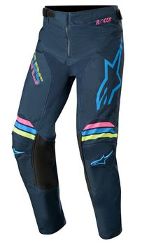 Pantalon cross enfant Alpinestars 2020 Racer Braap - Bleu Aqua Rose Fluo