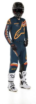 Tenue cross 2020 Alpinestars Racer Braap - Bleu Orange