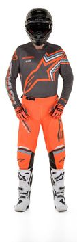 Tenue cross 2020 Alpinestars Racer Braap - Gris Orange Fluo