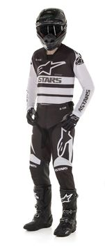 Tenue cross 2020 Alpinestars Racer Supermatic - Blanc Noir