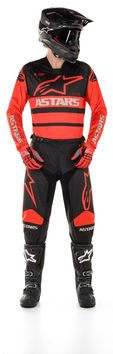 Tenue cross 2020 Alpinestars Racer Supermatic - Rouge Noir