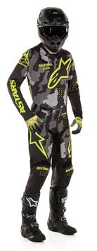 Tenue cross 2020 Alpinestars Racer Tactical - Camo Jaune Fluo