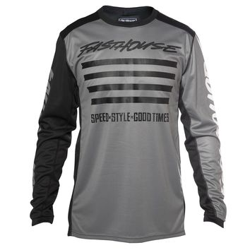 Maillot cross Fasthouse 2020 Slash - Gris Blanc